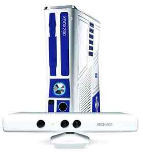 R2-D2 xbox 360 4 controllers with games,kinect,& charge station  Strathcona County Edmonton Area image 1