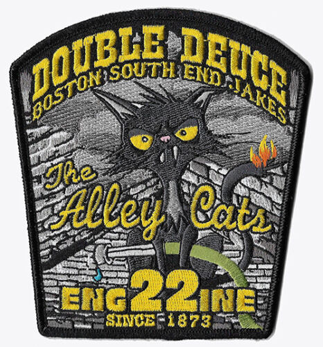 Boston Engine 22 Double Deuce Black Design Alley Cats NEW Fire Patch