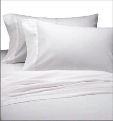 2 new full xl flat sheet percale linen sheets sale deal whit