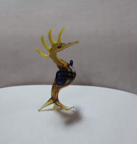 Art Blown Glass Murano Figurine Glass Seahorse Figurine