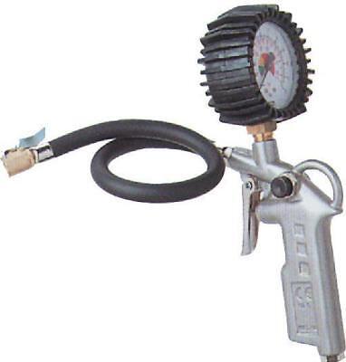 Güde Druckluft-Reifenfüller bis 10 Bar Kompressorzubehör Pistole mit Manometer