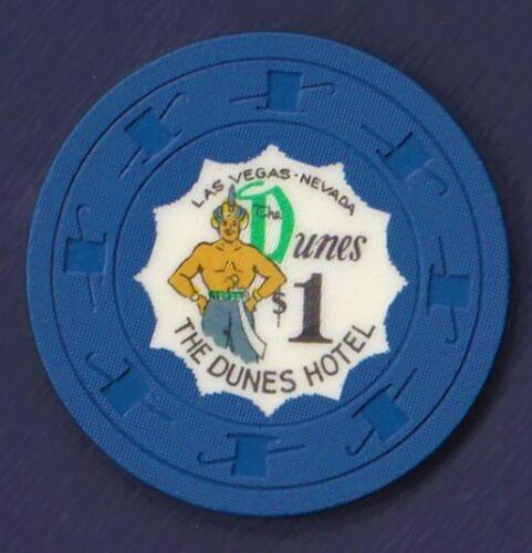 1956 Dunes Hotel $1 3rd Edition Casino Gaming Chip Las Vegas NV (N1506)