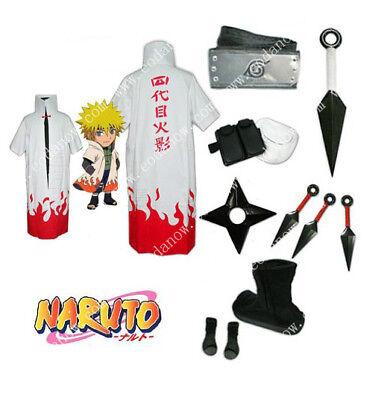 Cosplay Kostüm Naruto Namikaze Minato Kleidung Schuhe Waffen Lokoware CSN032