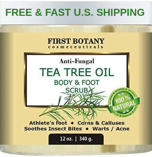 100% Natural Anti Fungal Tea Tree Oil Body & Foot Scrub 12 o