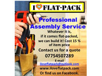 Professional Flatpack Assembly Service. All brands catered for, IKEA, Very, Argos, Dreams, Range etc