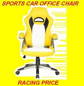 RACECAR -STYLE OFFICE CHAIR RED BLACK AND YELLOW $149.99 ONLY Oakville / Halton Region Toronto (GTA) image 4
