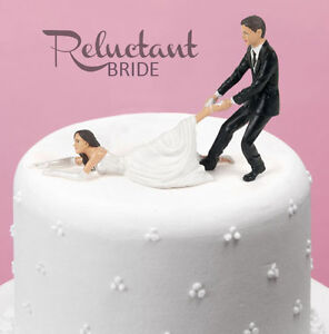 Reluctant-Bride-Wedding-Cake-Topper-Groom-Marriage