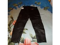 New leather motorcycle trousers for man, size UK 36 / EU 56