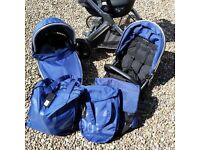 Baby Style Oyster 2 Travel System in Navy Blue - minus car seat