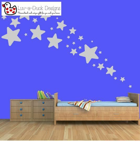 Home Decoration - Star Stars Wall Vinyl Stickers Kid Decal Art Nursery kids Bedroom Decoration Set