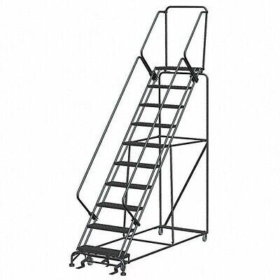 New Steel Industrial 10-step Rolling Laddergraybrand New Heavy Duty