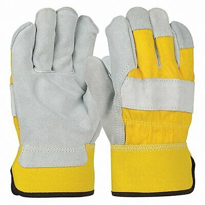 1 Pair Cowhide Leather Work Safety Gloves Welding Working Gloves Bronco 500y