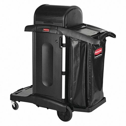 RUBBERMAID COMMERCIAL PRODUCTS - 1861427 Janitor Cart Rubber Caster 3 Shelves