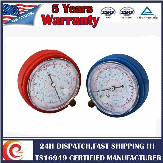 Air Conditioner Low and High Pressure Gauge R410A R134A R22 Refrigerant PSI USA
