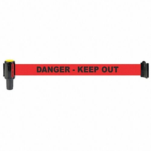 BANNER STAKES Barrier System Head, Danger Keep Out, 2 Pack