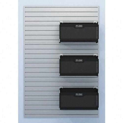 Flow Wall Modular Garage Wall Storage Panels in Silver Model FWS-4812-6SB