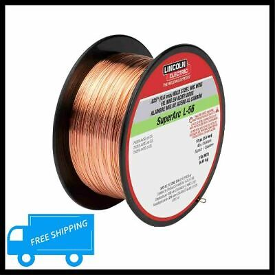 Lincoln Mild Steel Mig Welding Wire 0.025 In Super Arc L56 Er70s-6 Copper 2 Lbs