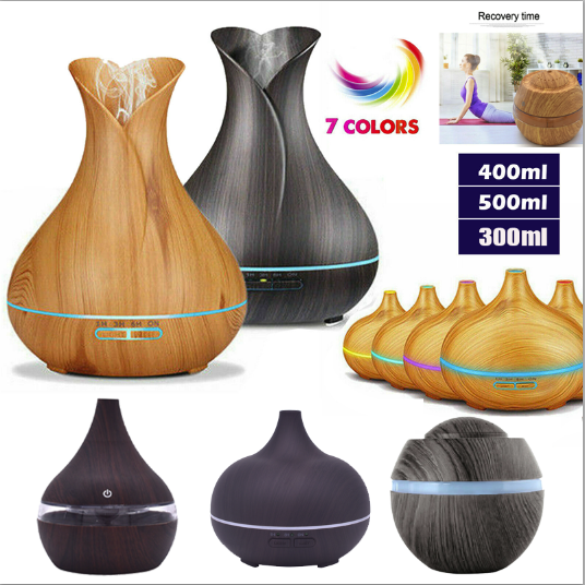 Ultrasonic Led Essential Oil Aroma Diffuser Air Purifier Hum