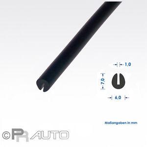 3 mtr. (€ 4,85/ m)   Kantenschutz Gummiprofil U - Profil EPDM