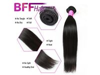 Brazilian virgin hair - 3 Weave Bundles (12 inches each), straight 8A Unprocessed hair extensions