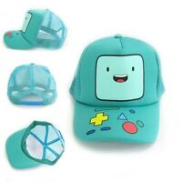 1pcs Adventure Time Deluxe Beemo Bmo Anime Cyan Baseball Cap Hat - unbranded - ebay.co.uk