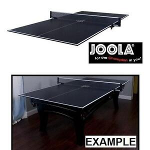 NEW*JOOLA CONVERSION TABLE TOP FOAM BACKING NET INCLUDED CHARCOAL PING PONG TABLE TENNIS TABLES TOPS GAME ROOM