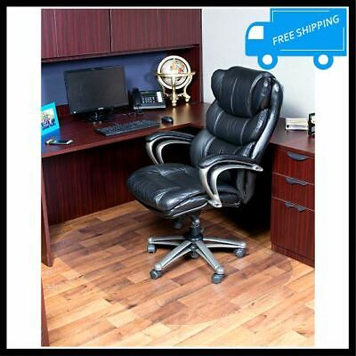 45x60in Clear Rectangle Chair Mat Hard Wood Floor Protector Office Computer Desk