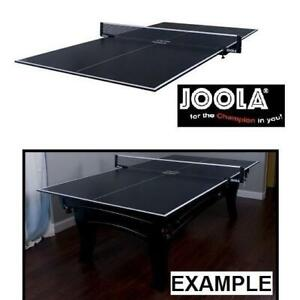 NEW JOOLA CONVERSION TABLE TOP 11009 242925896 TABLE TENNIS PING PONG FOAM BACKING NET INCLUDED CHARCOAL