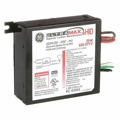 GE GEMH39-MSF-MV ULTRAMAX ELECTRONIC HID BALLASTS-BOX OF 10, 39 W, 12J910, NEW!
