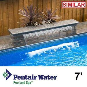 "NEW* PENTAIR 7' MAGIC FALLS 13"" LIP - 120740377 - GRAY WATER FALL WATERFALL WATERFALLS SHEET POOL POOLS ACCESSORIES P..."