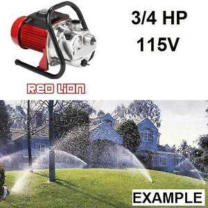 NEW* RED LION 3/4 HP SPRINKLER PUMP UTILITY PUMPS SPRINKLER SYSTEMS STAINLESS STEEL WATER WELL PLUMBING PUMPING