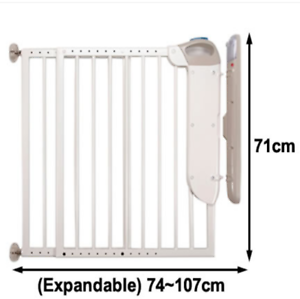Top Of Stairs Safety 1st Security Alarm Safety Baby Gate Expands