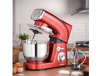 VonShef Stand Mixer 5.5 Litre in Red 1,200 watts