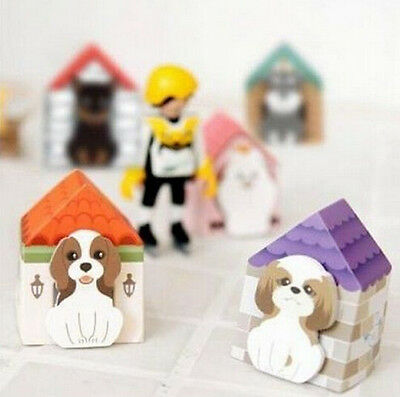 Fd927 Funny Puppy House Dog Sticker Bookmark Mark Memo Sticky Note 1pc