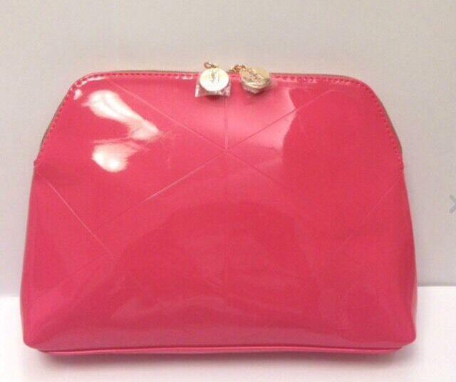 7936d4b94d yves saint laurent YSL Deluxe Patent Large Cosmetic Makeup Bag Pouch Clutch