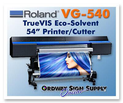 Roland Truevis Vg-540 54 Printer Cutter Plus 1 Year Warranty - Refurbished