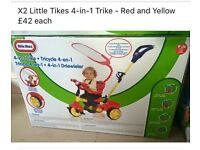 X2 Little tikes 4-1 trike brand new in box