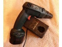 Black & decker 9.6v drill/screwdriver battery & charger with reverse. In good working order £20 ono