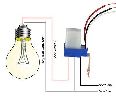 Ac Dc 24v 10a Sensor Switch Auto On Off Photocell Street Light Photo Switch L