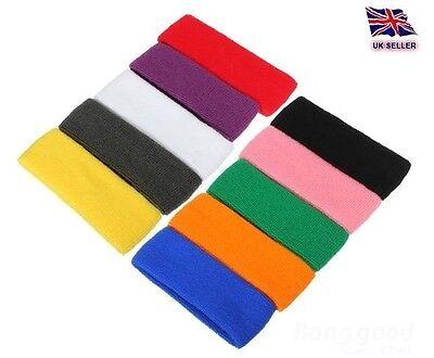 Sports Wrist Sweatbands Tennis Squash Badminton GYM Wristband x2