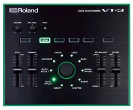 Roland Aira VT-3 Vocal Transformer used.
