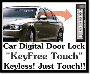 car vehicle digital touch keyless door lock system key. Black Bedroom Furniture Sets. Home Design Ideas