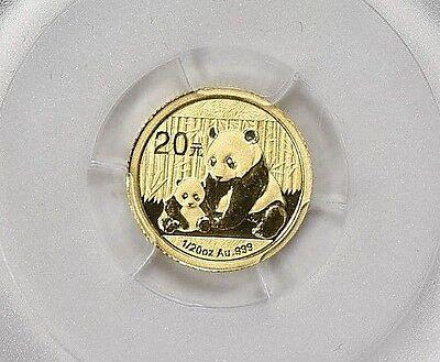2012 ~ 20~YUAN ~ GOLD ~ CHINA PANDA ~ FIRST STRIKE ~ PCGS MS~69 ~ FLAG ~ $138.88