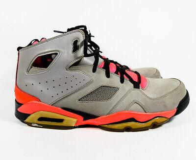 40449752cb3 Nike Air Jordan FLIGHT CLUB 91 Silver Black Crimson Mens Shoes Sneakers Sz  14 *