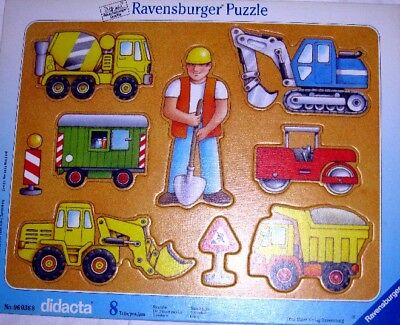 RARE Ravensburger TOY Puzzle Lot OF 3 BUILDING SITE & THINGS THAT FLY ALPHABET ~ - Toys That Fly