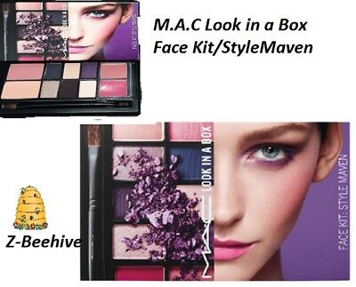 MAC Look In A Box Style Maven Face Kit Blush Eye Shadow Lipstick Cosmetic Brushe, used for sale  Shipping to Canada