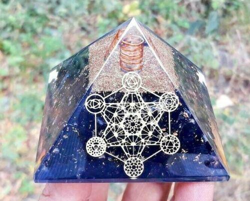 X-LG Orgone Pyramid Energy Generator Emf Protection Healing Meditation Orgonite