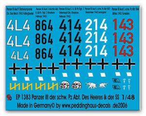Peddinghaus-1-48-1383-Panzer-III-EL-HEAVY-pz-Abt-des-EJERCITO-Y-LA-ELITE