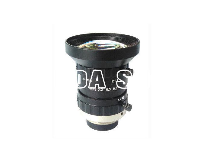 """1PC WLS WL1406-2M-1 1"""" 2Megapixel 6.5mm F1.4 FA industrial camera lens#SS"""