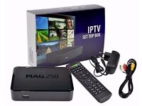 *WATCH IN HD*MAG HD IPTV BOX BETTER THAN SAT BOXES-NO DISH NEEDED+12 MTHS SMART TV/MAG/VLC/OPENBOX